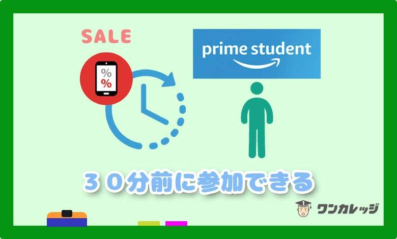 Amazon プライムスチューデント セール